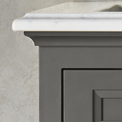 Portico Vanity - Top molding detail