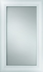 Carlton Matte Aluminum with Horizontal Reeded Glass